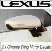 CHROME WING MIRROR DECALS