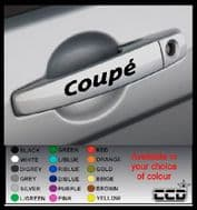 COUPE Door Handle Stickers/Decals x 4