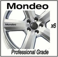 FORD MONDEO (NEW) CAR WHEEL DECALS