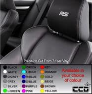Ford RS (new) Logo Car seat Decals