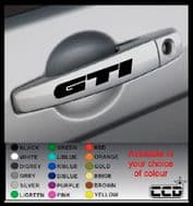 GTI Door Handle Stickers/Decals x 4 (3)