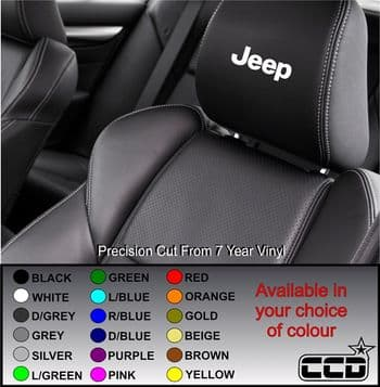 Jeep Logo Car seat Decals