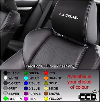 Lexus Car seat Decals