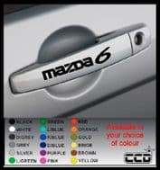 MAZDA 6 Door Handle Stickers/Decals x 4
