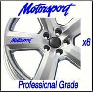MOTORSPORT CAR WHEEL DECALS