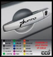 PUNTO Door Handle Stickers/Decals x 4 (8)
