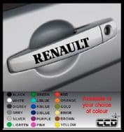 RENAULT Door Handle Stickers/Decals x 4 (9)
