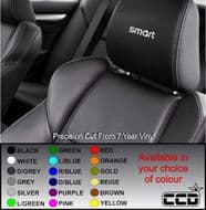 Smart Car Logo Car seat Decals