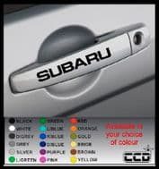 SUBARU Door Handle Stickers/Decals x 4 (6) (7) (8)