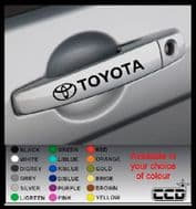 TOYOTA Door Handle Stickers/Decals x 4 (4)