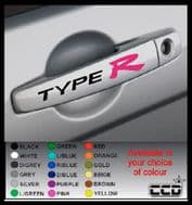 TYPE R Door Handle Stickers/Decals x 4 (5)