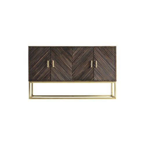 Adina  153cm Art Deco Brown And Gold Sideboard