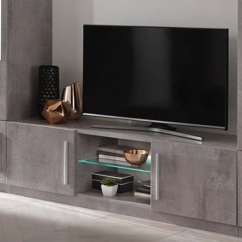 Adria 156cm Grey Marble TV Stand