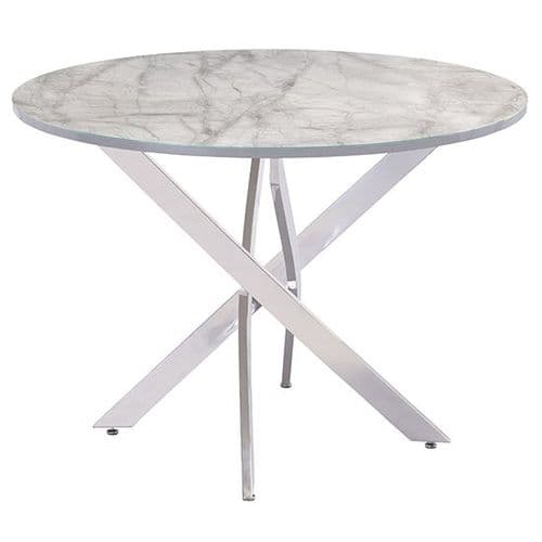 Aldred 107cm Round Marble Dining Table