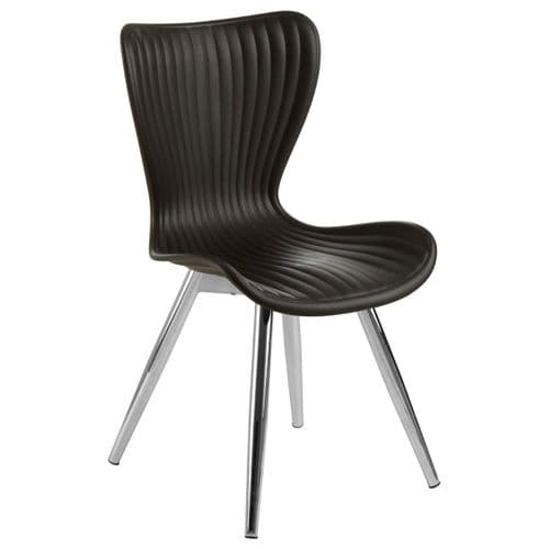 Allan Black Plastic Dining Chair