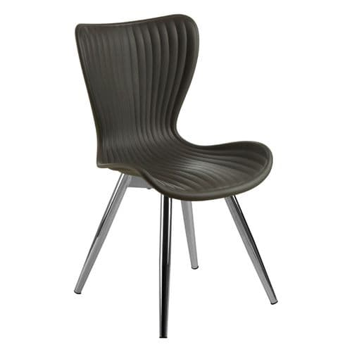 Allan Grey Plastic Dining Chair