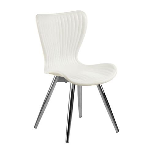 Allan White Plastic Dining Chair