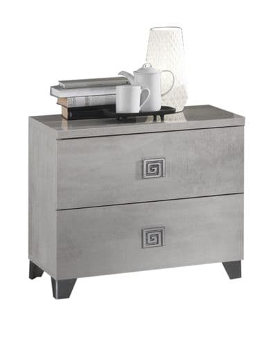 Anisa Pale Grey High Gloss Bedside Table