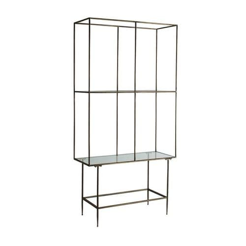 Anju Iron And Glass Bookcase Shelving