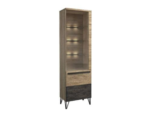 Arrito RH Robust Assembled Wood Narrow Display  Cabinet