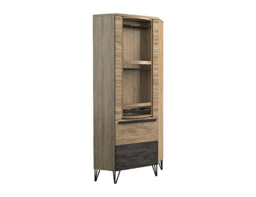 Arrito Robust Assembled Wood Corner Display  Cabinet
