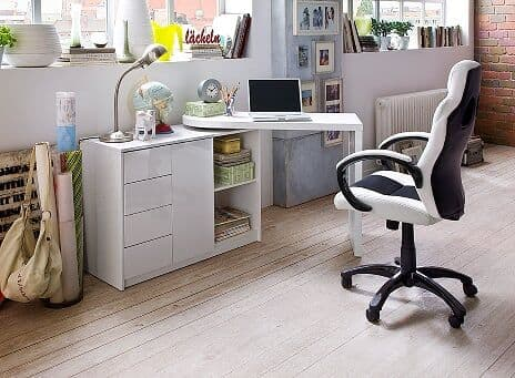 Asko 108cm  Small Compact Office Desk