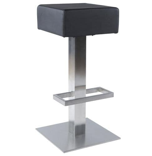 Bebo Black Padded Backless Bar Stool