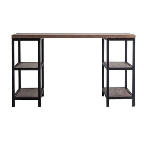 Benjamin 130cm Solid Wood And Iron Office Desk