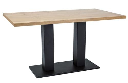 Caddy 180cm Large Dining Table Oak-Black Home Furniture
