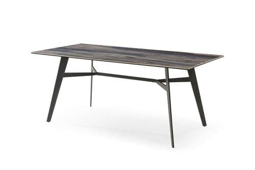 Caldon Grey And Blue Ceramic Dining Table