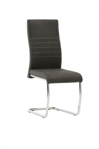 Cassandra Black Faux Leather Dining Chair