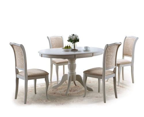 Cavalon Extending Dining Table Ecru Finish Home Furniture