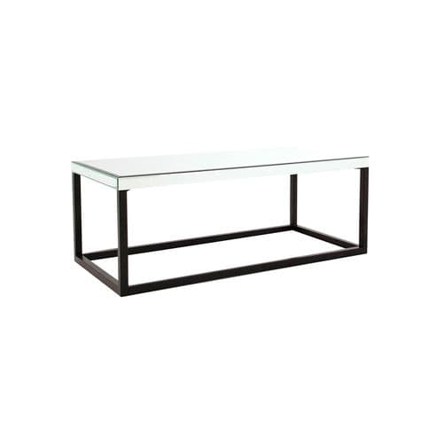 Chaucer 120cm Glass And Black Coffee Table