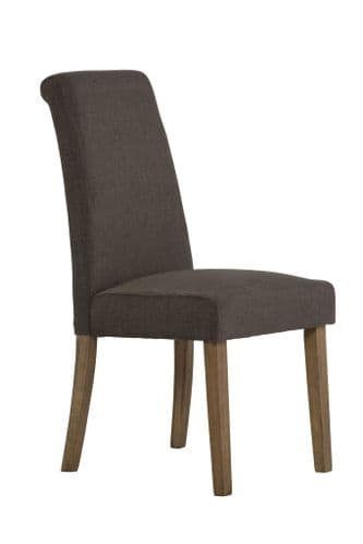 Cheltenham Dark Grey Fabric Dining Chair