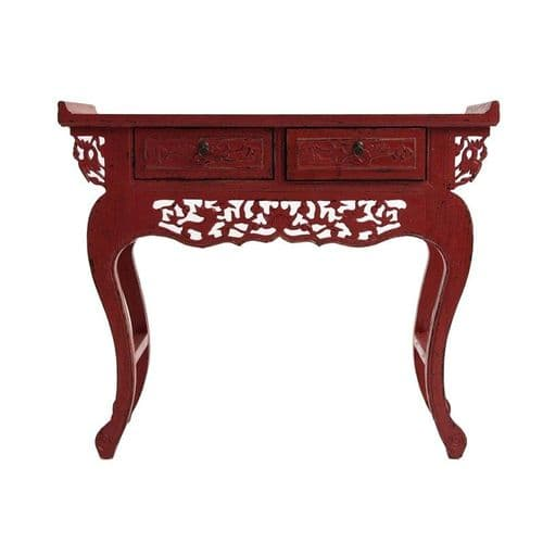 Chen Red Small Console Table