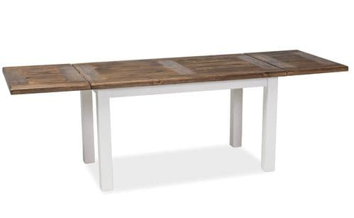 Clatter Dining Table Brown Wax/White Wax Home Furniture