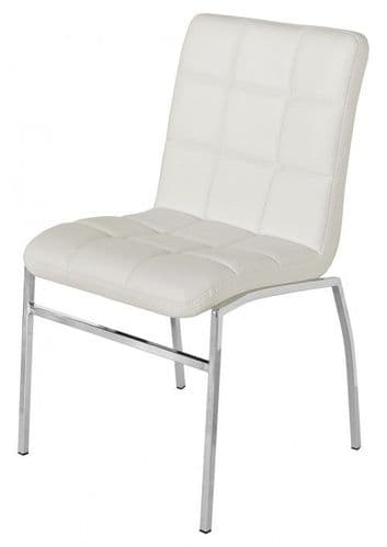 Cocomala White Faux Leather Dining Chairs