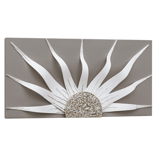 Corazon  Dove Grey Solar Decorative Wall Art
