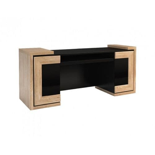 Corrine 192cm Oak Or Walnut Ready Assembled Office Desk UK