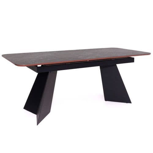 Cravell Grey And Copper Extending Dining Table