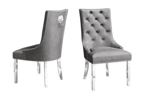 Danai Grey Velvet Dining Chair