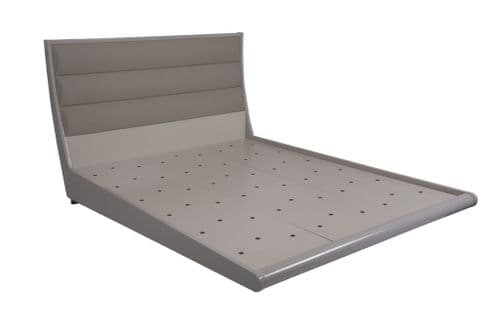 David Cashmere Grey  High Gloss Double Bed