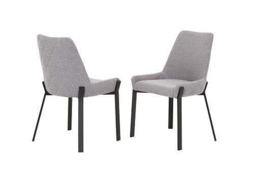 Debra Grey Fabric Dining Chair