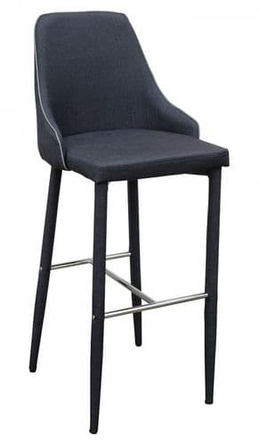 Denton Dark Charcoal Grey Bar Stool