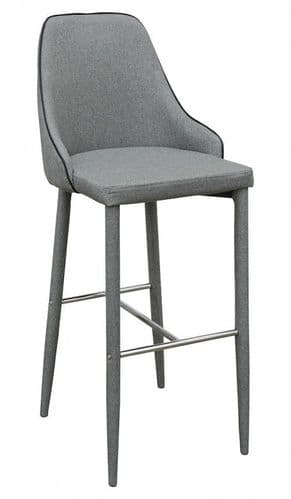Denton Light Grey Bar Stool