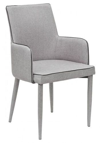 Denton Light  Grey Carver Dining Chair