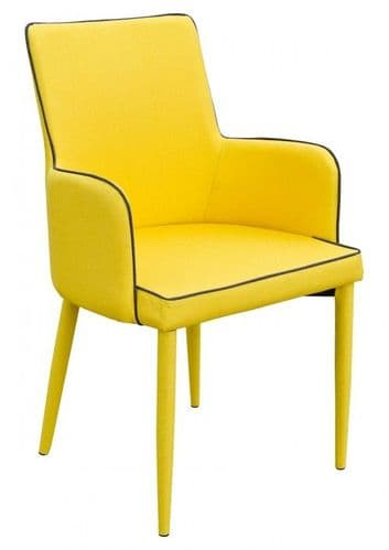 Denton Mustard Yellow Carver Dining Chair