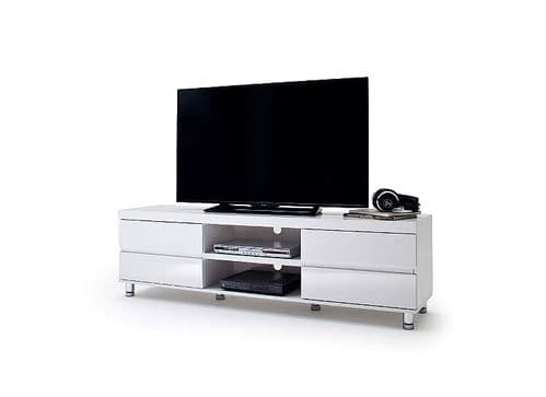 Deroy 165cm White Gloss TV Stand