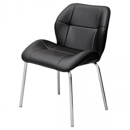 Dikono Black Leather Bistro Chairs