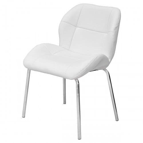 Dikono White Leather Bistro Chairs